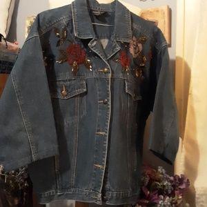 Carol Little beaded denim jacket